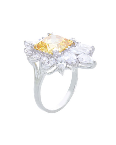 ML198,  rhodium plated, 8, yellow