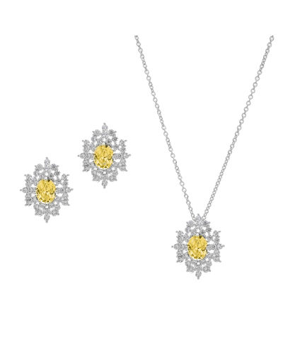 ML172,  rhodium plated, yellow