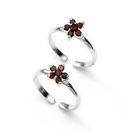 Charming Floral Stone Toe Ring-TR122