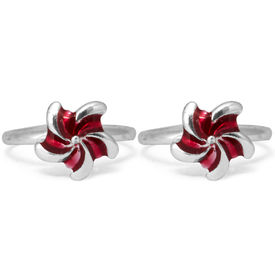 Appealing Enameled Silver Toe Ring-TR291