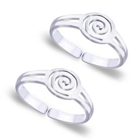 Cutwork Spiral Pattern Toe Ring-TR188