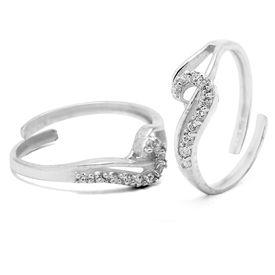 Designer Stone Studded Toe Ring-TOER001