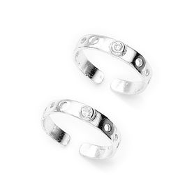 Dazzling White Zircon Toe Ring-TR213