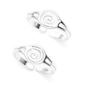 Cutwork Spiral Pattern Toe Ring-TR188