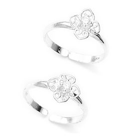 Alluring Floral CZ Toe Ring-TR178