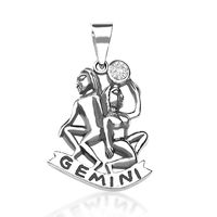 Gemini Silver Pendant-PD008