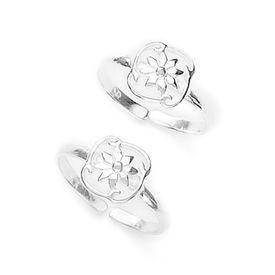 Adorable Leaf Design Silver Toe Ring-TR246