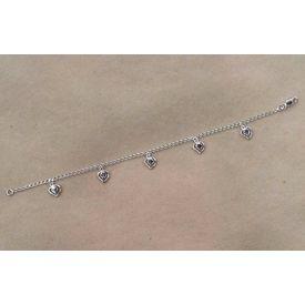Pretty Silver Heart Bracelete-BR008