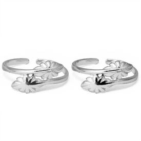 Leaf Design Silver Toe Ring-TR319