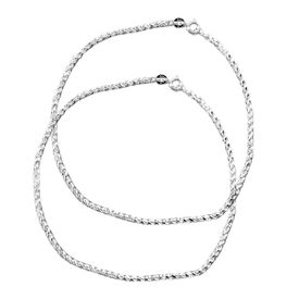 Rope Chain Silver Anklets-ANK009