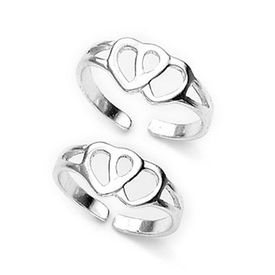 Lovely Sterling Silver Casted Toe Ring-TR92