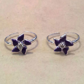 Exquisite Zircon Silver Toe Ring-TR290