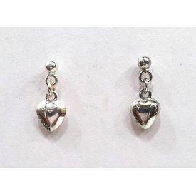 Cute Heart Shape Silver Earrings-ER019