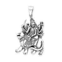 Goddes Durga On Lion Pendant-PD052