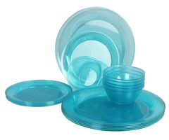 Gluman Break Resistant Dinner Set - Glitz 18 pcs Round (Green)