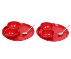 Gluman Dinner Set -Sparkle 8 pcs Round (Red)