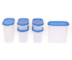 Gluman 6 Pcs Set of Modular Kitchen Storage Container Box - Mod Blue C4