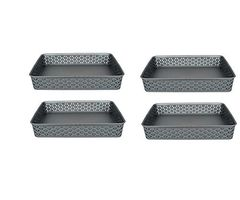 Jaypee Plus File - All A4 Tray - Grey pack of 4