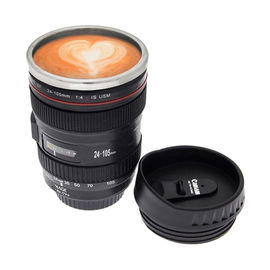 Camera Lens shape Cup Coffee Tea Mug Stainless Steel Thermos & Lens Lid