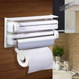 Triple Paper Dispenser Cling Film Wrap Aluminium Foil & Kitchen Roll Holder