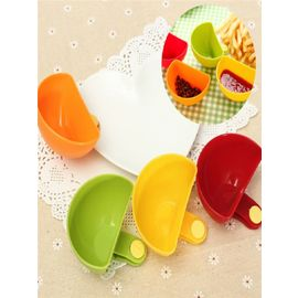 4pc dip bowls Colored Party sauce Clips Bowl Clip for Plates chutney clip