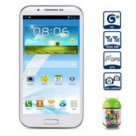 Freegape Brand GT-H7100 Android 4.1 3G Smartphone 1GB RAM 5.3 inch QHD Screen GPS MTK6577 Dual Core 1GHz 8MP Camera (White)