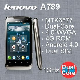 Lenovo A789 MTK6577 Dual-core Cortex-A9 1.0GHz Android 4.0 GPS dual camera 5.0MP 4 inch smartphone