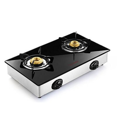 Butterfly Grand 2 Burner Gas Stove,  silver