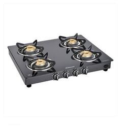 Sunflame Classic 4 Burner Auto Ignition Black Gas Stove,  black