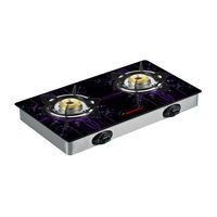 Butterfly 2 Burner Reflection Special edition Auto Ignition Gas Stove,  silver