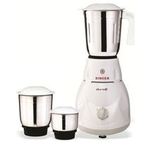 Singer Duro Plus 500-Watt 3 Jar Mixer Grinder,  white