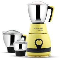 Butterfly Pebble 3 Jar 600w Mixer Grinder,  yellow