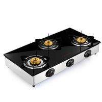 Butterfly Grand 3 Burner Gas Stove,  silver