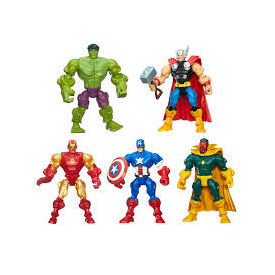 "Hot 6pcs/sets The Avengers 5"" Captain America Wolverine Thor Spiderman Batman Action Figures Toys Boy children dolls superhero"