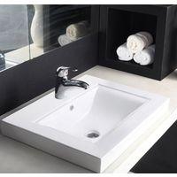 Hindware L460mm X W600mm XH175mm Tessa Counter Top Self Rimming Wash Basin# 91056, pastel