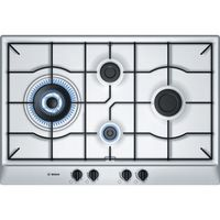 Bosch 76 cm Stainless steel Gas Built-In Hob with integrated controls# PCI815B8TI