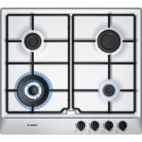 Bosch 60 cm Stainless steel Gas Built-In Hob With Integrated Controls# PCH615B8TI.