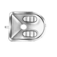 Nirali Laxi Pan Stainless Steel Water Closet# RJ253F62CE2, with flushing