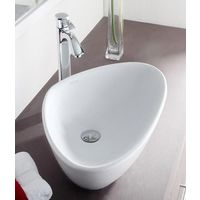Hindware L390mm X W590mm X H140mm Wave Table Top Wash Basin# 91042, starwhite
