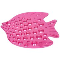 Cipla Plast Anti Slip Rubber Tub Mat/Bath Mat - Fish# BRC-724, pink