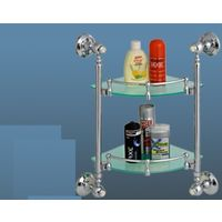 Hi-Life Diamond Corner Glass Shelf - Double