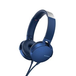 Sony MDR-XB550AP EXTRA BASS Over-Ear Headphones with Mic for phone call, Blue