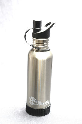 Stainless Steel Water Bottles with your NAME(Grey)