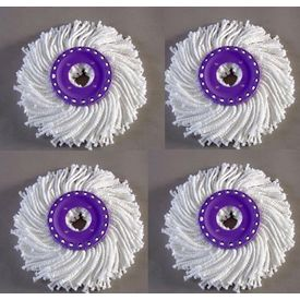 Set of 4 Replacement Mop Head for ISPINMOP