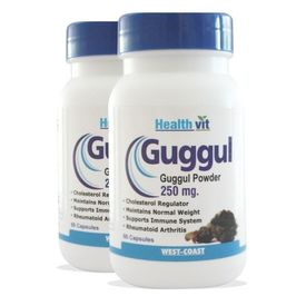 HealthVit Guggul Powder 250 mg 60 Capsules (Pack Of 2) For Weight Management