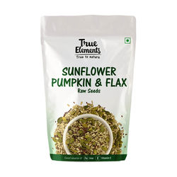 True Elements Raw Sunflower Pumpkin and Flax Seeds 150gm