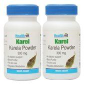 Healthvit KAREL Karela Powder 300 mg 60 Capsules (Pack Of 2)