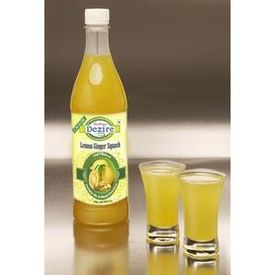 Dezire Natural Sugar Free Lemon Ginger Squash 500 Ml