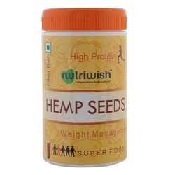 Premium Raw Hemp Seeds 250gms (Reusable Packaging With Scoop) , Powerful Superfood