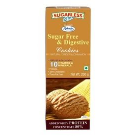 Sugarless Bliss Natural Ginger & Cinnamon Cookies (Sugar free for diabetics), 200gms